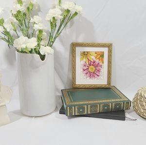 Framed Floral Embroidery